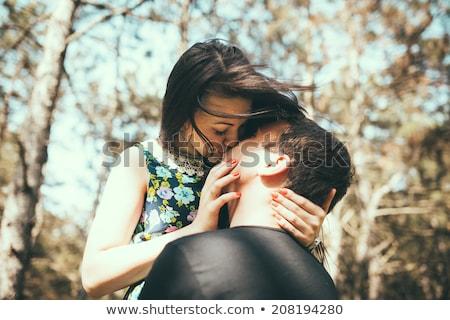 portré · figyelmes · fiúbarát · csók · mosolyog · barátnő - stock fotó © photography33