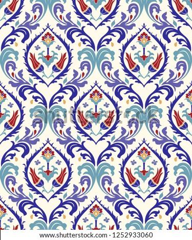 Végtelenített damaszt tapéta absztrakt textúra levél Stock fotó © SelenaMay