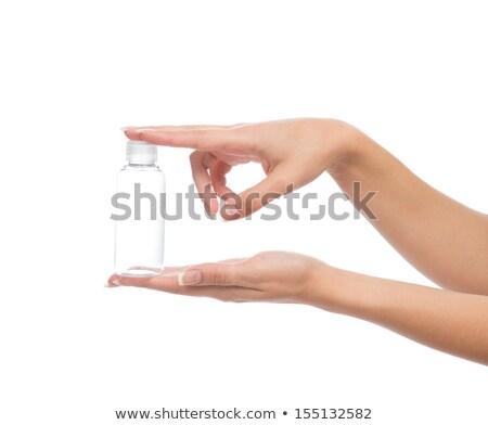 insan · eli · boş · plastik · yalıtılmış · beyaz - stok fotoğraf © ozaiachin