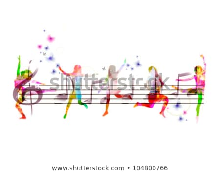abstract musical jump on a sound Stock photo © pathakdesigner