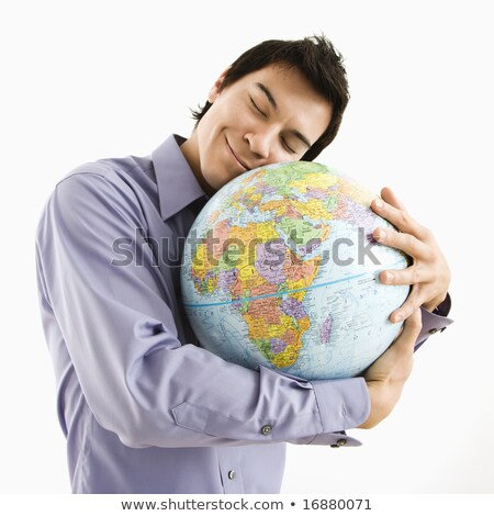 Man hugging a globe Stock photo © photography33