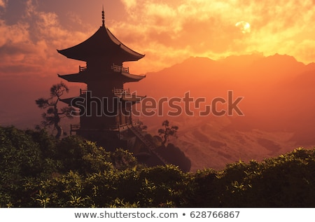 China temple in Thailand Stock photo © Witthaya