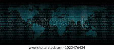 World map of the digital binary code Stock photo © a2bb5s