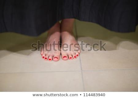 Ayaklar arkasında perde kadın Stok fotoğraf © wavebreak_media