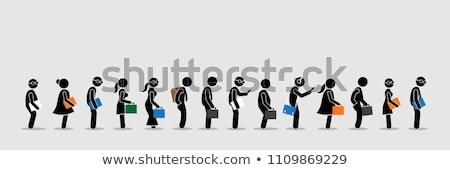 People Queuing up for job. (interview concept)  Stock photo © 4designersart