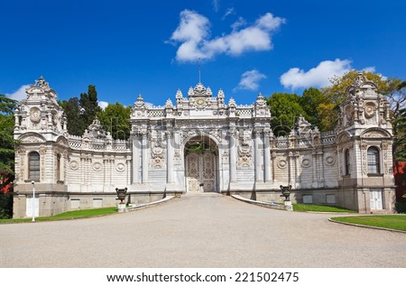 Istanbul - Gate of the Sultan, Dolmabahce Palace, Turkey  Stock photo © Bertl123