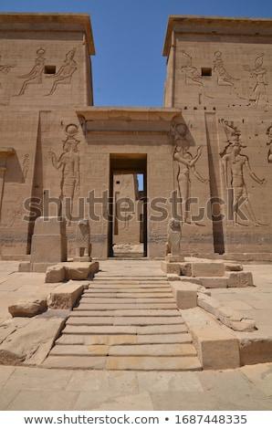 Egyiptom · templom · sivatag · halál · Afrika · szobor - stock fotó © tanart