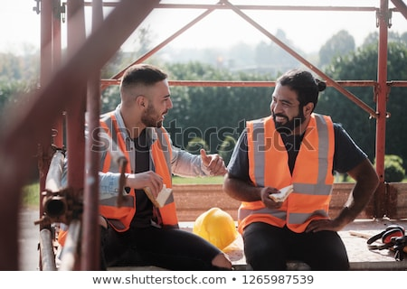 friendly construction workers stock photo © photography33