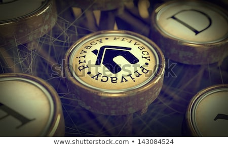 Privacy Typewriter Key. Grunge Background. Stock photo © tashatuvango