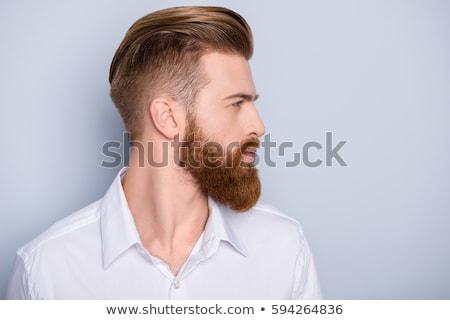 portrait of man working as hairdresser in shop Stock photo © diego_cervo