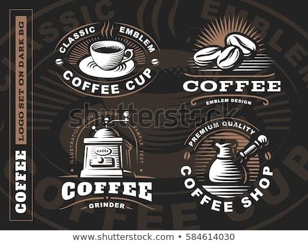 fincan · kahve · fasulye · öğütücü · tahta · karanlık - stok fotoğraf © taden