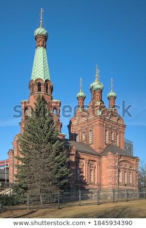 Ortodoks kilise küçük kilise Bina tuğla mimari Stok fotoğraf © Stocksnapper
