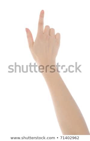 hand simulating pressing a button stock photo © taigi