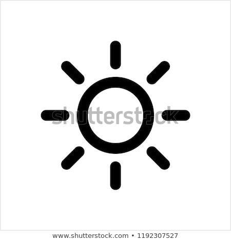 Vecteur soleil icône printemps nature paysage Photo stock © rioillustrator