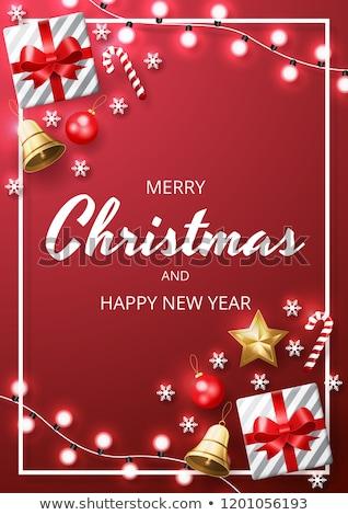 ベクトル · クリスマス · グリーティングカード · フローラル · フレーム - ストックフォト © carodi