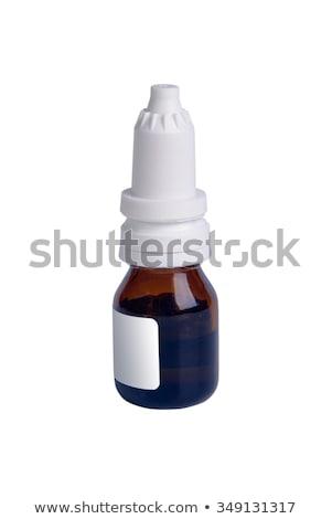 üvegek · spray · cseppek · orvosi · háttér · fehér - stock fotó © zerbor
