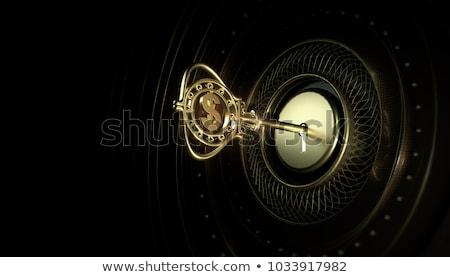 Sleutel geld metaal teken marketing voorraad Stockfoto © rufous