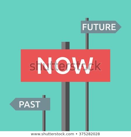No futuro passato motivazionale design sfondo Foto d'archivio © maxmitzu