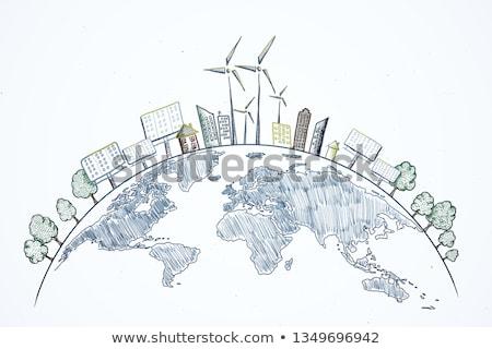 Eco idée croquis respectueux de l'environnement papier Photo stock © kiddaikiddee