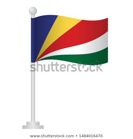 Seychelles Small Flag on a Map Background. Stock photo © tashatuvango