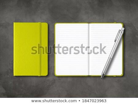 személyes · szervező · tervező · toll · fehér · luxus - stock fotó © dezign56