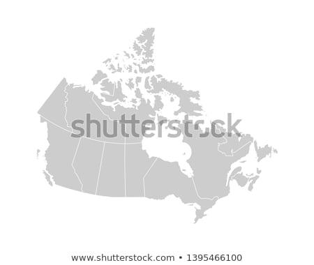 Térkép Kanada zöld sziluett szarvas fehér Stock fotó © mayboro