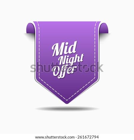 полночь предлагать Purple вектора икона дизайна Сток-фото © rizwanali3d