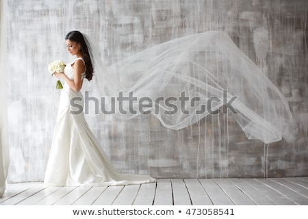 Appealing Young Bride in Wedding Dress Stock photo © gromovataya