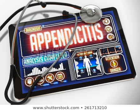 Tablet with the diagnosis Appendicitis on the display Stock photo © Zerbor