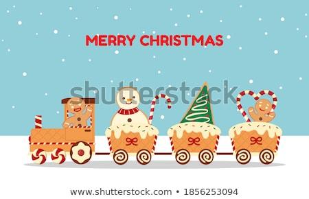 karácsony · vonat · fehér · illusztráció · terv · művészet - stock fotó © cteconsulting