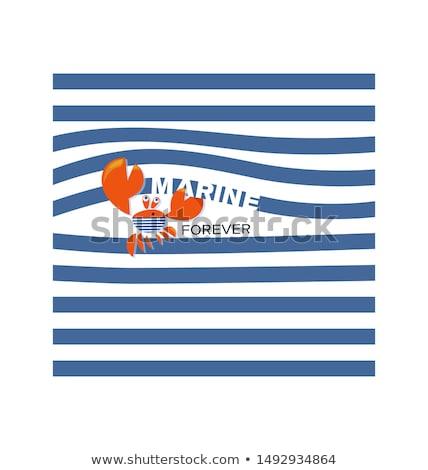 船乗り カニ 実例 海 船 面白い ストックフォト © adrenalina