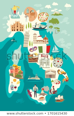 Map of Italy, Pisa Stock photo © Istanbul2009