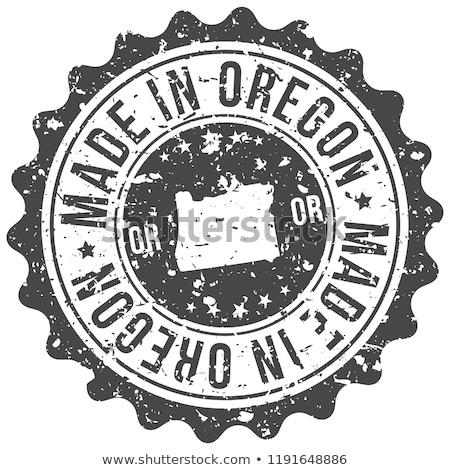 Rubber inkt stempel Oregon tekst Stockfoto © Bigalbaloo