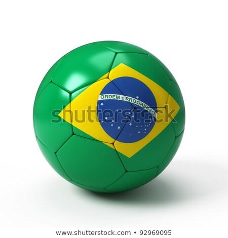 緑 白 サッカー ボール ブラジル フラグ ストックフォト © jarin13