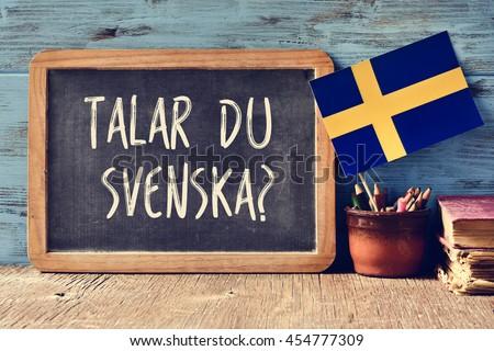 Talar du Svenska, Do you speak Swedish Stock photo © stevanovicigor