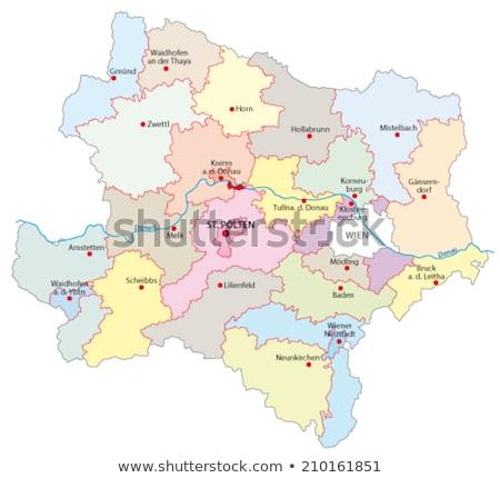 Map of Lower Austria Stock photo © rbiedermann
