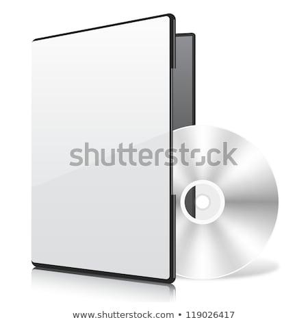Caixa disco branco azul vídeo digital Foto stock © stoonn
