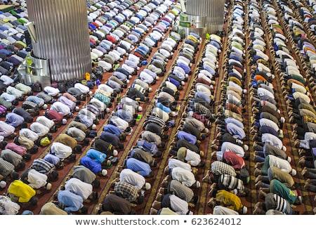 Ima mecset fiatal muszlim férfi készít Stock fotó © Jasminko