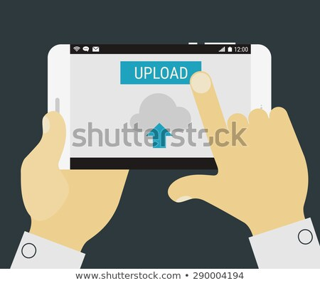 cloud upload sign theme Stock photo © vector1st