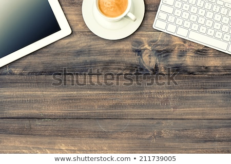Venda assinar mesa de madeira relógio negócio escritório Foto stock © fuzzbones0