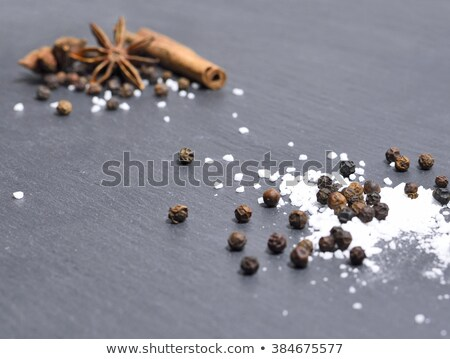 зима специи каменные пластина корицей анис Сток-фото © user_11224430