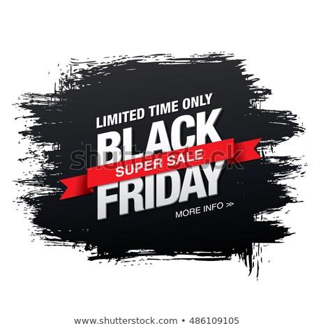 Black friday ciemne sprzedaży wstążka etykiety projektu Zdjęcia stock © SArts