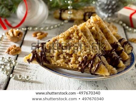 Triângulo noz comida sobremesa bolinhos ninguém Foto stock © Digifoodstock