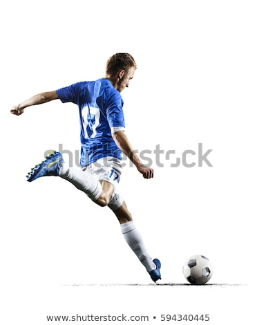 athletic man with ball stock photo © deandrobot