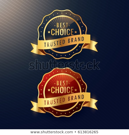 Marka złoty etykiety odznakę zestaw Zdjęcia stock © SArts
