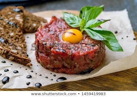 bife · ovo · gema · restaurante · pão · refeição - foto stock © m-studio