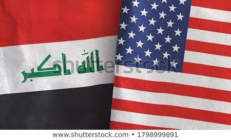 Ирак · США · флаг - Сток-фото © soup22