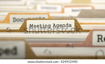 Vergadering agenda map kaart Stockfoto © tashatuvango
