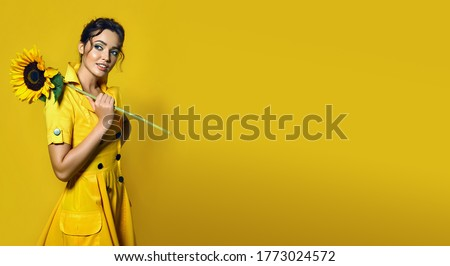 woman with bouquet of flowers Stock photo © LightFieldStudios