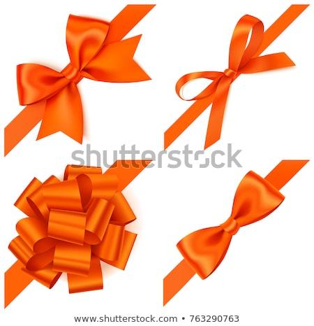 orange ribbon. Illustration Design graphic. Vintage ribbon. Stock photo © alexmillos
